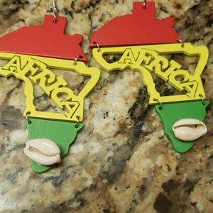 Jewelry - African cowrie shell earrings